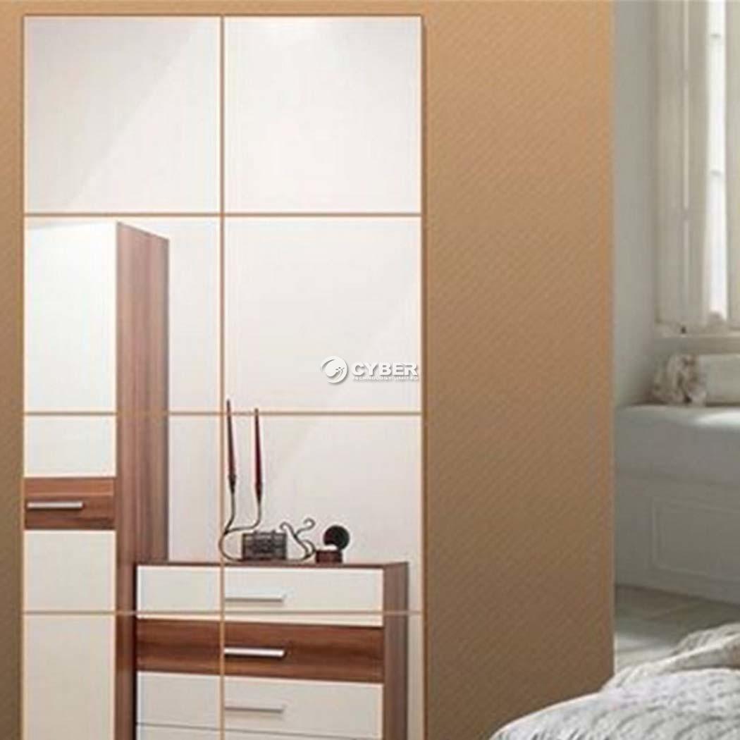 16stk praktischer spiegel wand sticker dekorativ. Black Bedroom Furniture Sets. Home Design Ideas
