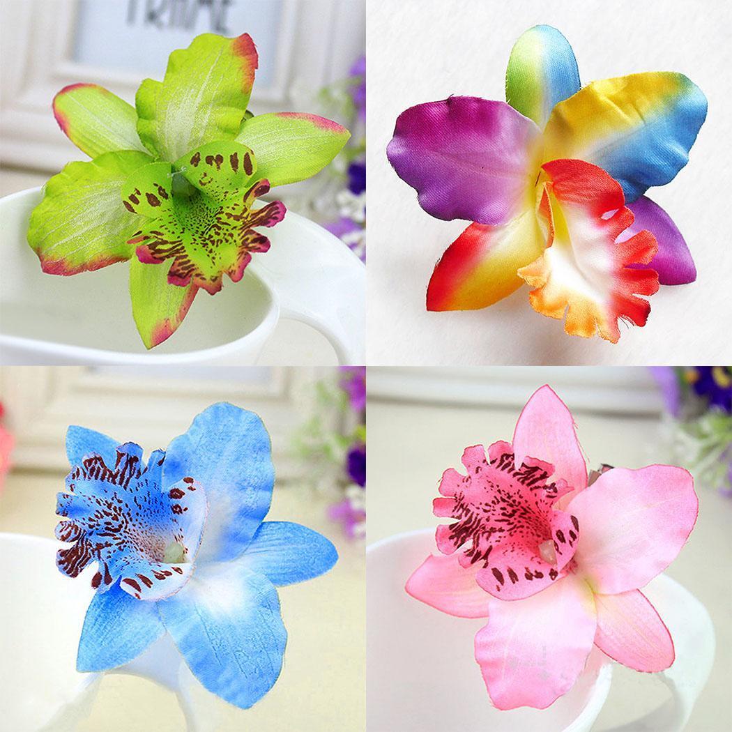Colorati orchidea spilla capelli fiore da sposa fermaglio for Nuovo stelo orchidea