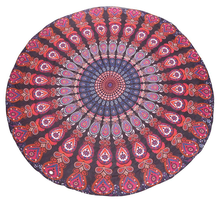 indian paon mandala rond tapisserie gitane plage couverture tapis de yoga esy1. Black Bedroom Furniture Sets. Home Design Ideas