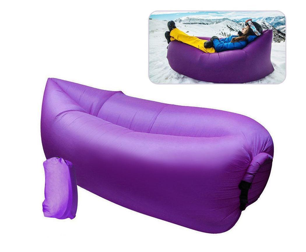 Folding aufblasbar schlafenbett faul sofa bag air strand for Sofa aufblasbar