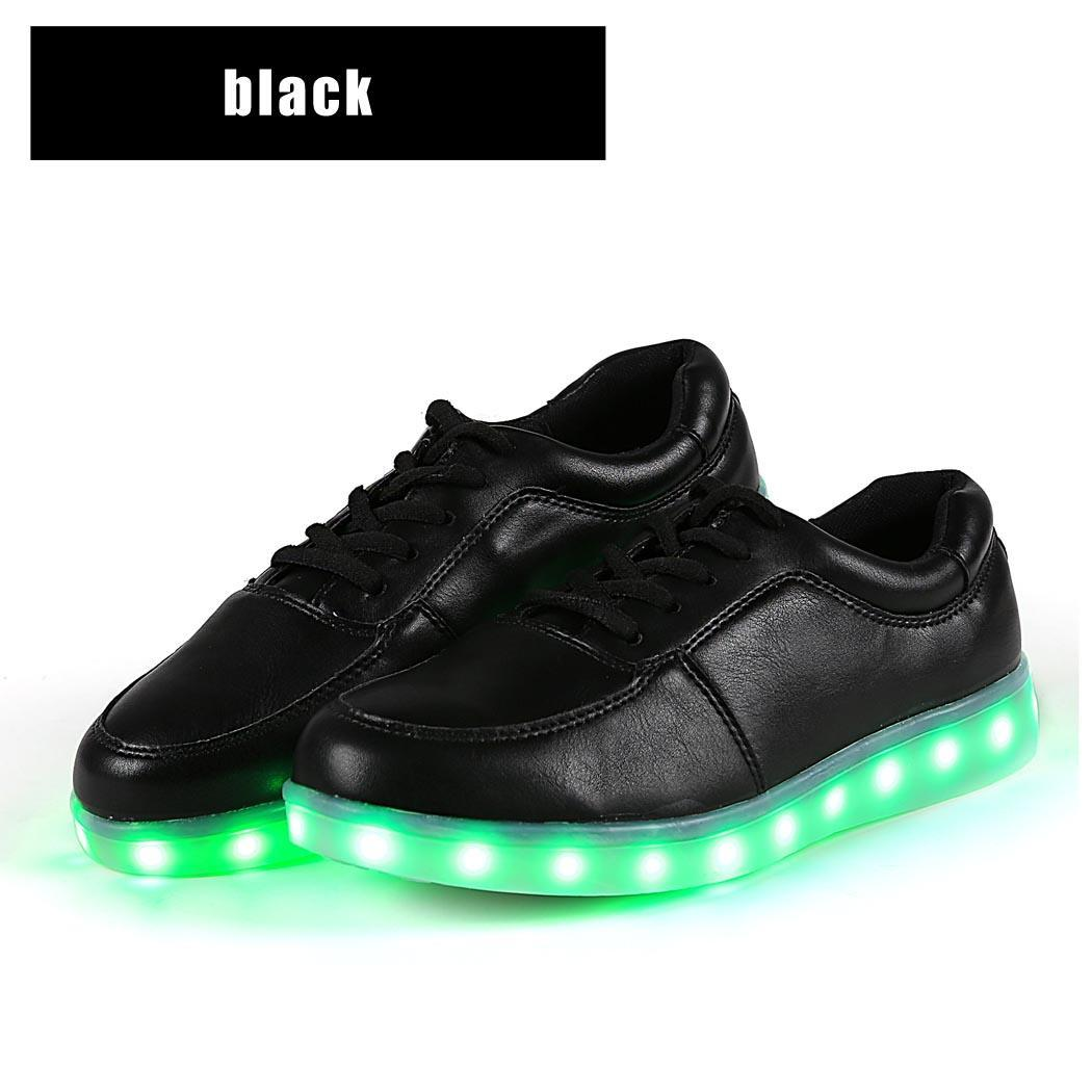 unisex damen herren led light schuhe licht leuchtend sneaker farbwechsel shoes ebay. Black Bedroom Furniture Sets. Home Design Ideas