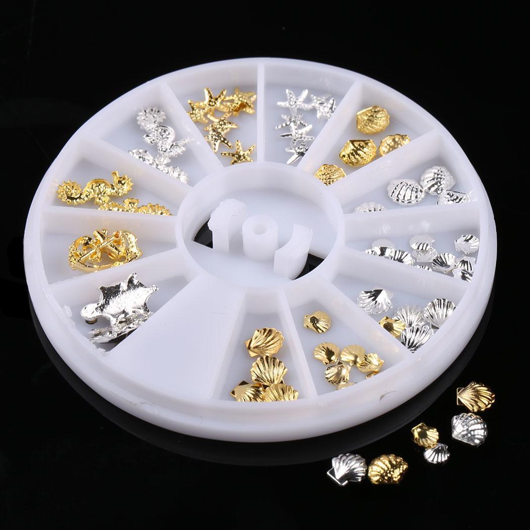 Ruota 3d Nail Art Strass Glitters Acrilico Decorazioni Per