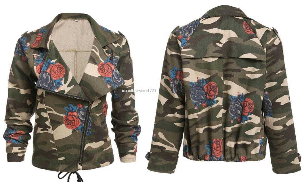 neu damen camouflage bomberjacke jacke milit r army fliegerjacke retro armee ebay. Black Bedroom Furniture Sets. Home Design Ideas