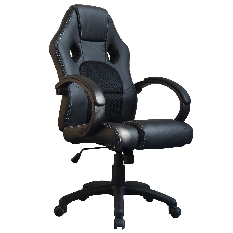 De lujo carreras videojuegos silla de oficina escritorio for Sillas ergonomicas para ordenador