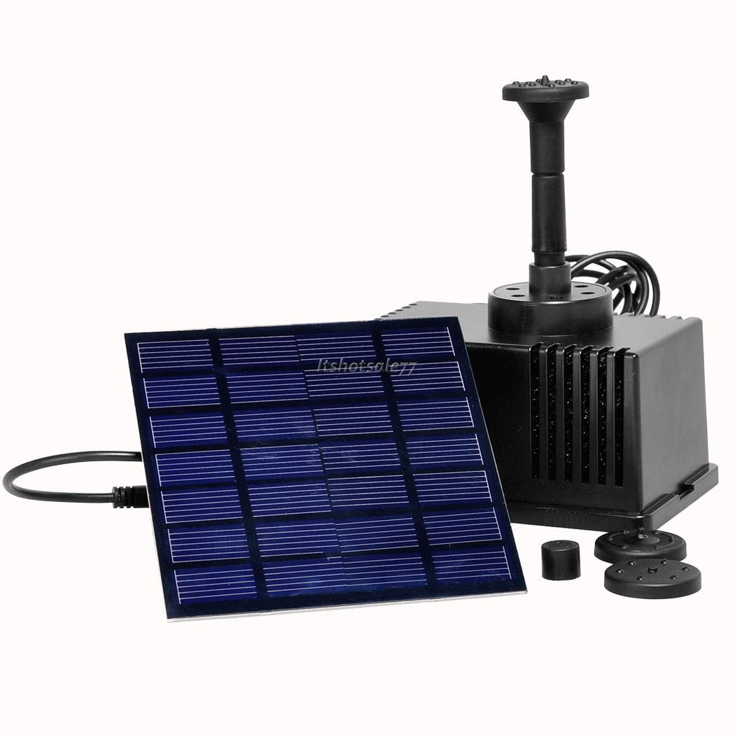 Square Solar Power Fountain Pool Water Pump Panel Garden Pond Watering Kit Its7 Ebay
