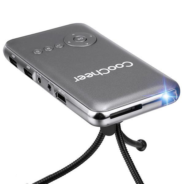 Cyber coocheer home outdoor mini portable rechargeable for Mini outdoor projector