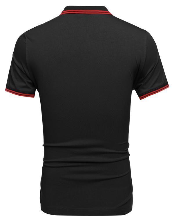78cc5bf611951 Compra COOFANDY Camisa Polo Manga Corta Para Hombre-Rojo online ...