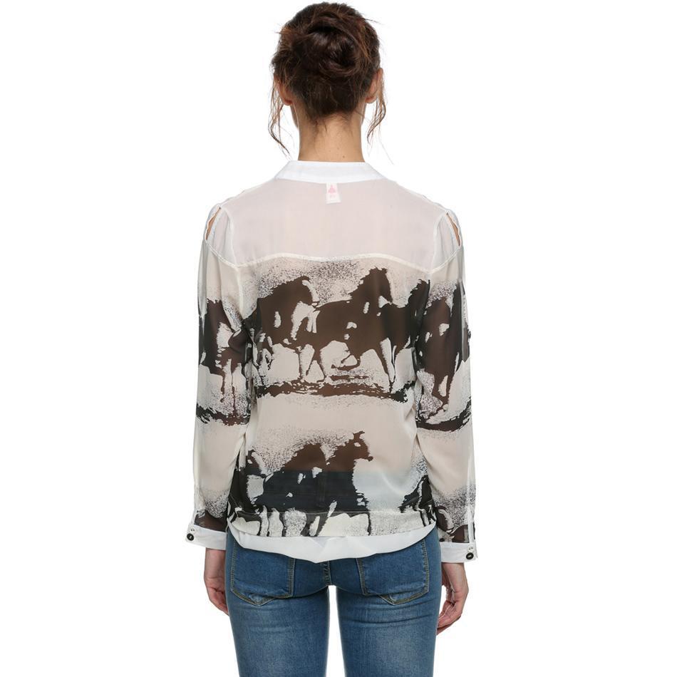 Compra Blusa Camiseta Camisa Estampado De Caballo Para Mujer online ... ff4e98139ef91