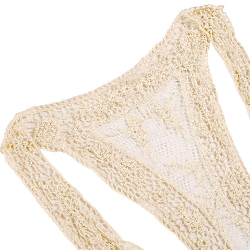 Compra Traje De Baño Bikini Playa Sexy Cover Up Encaje Crochet Para ...