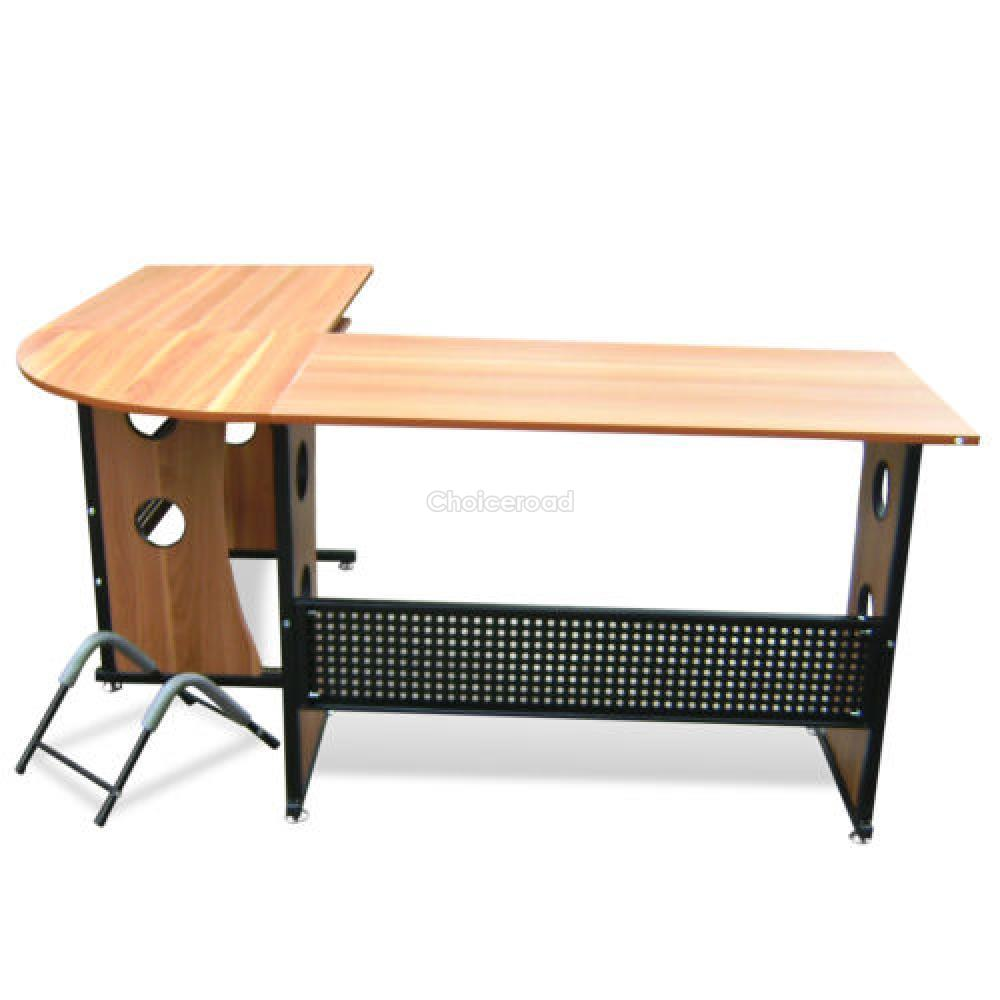 Hot L Shape Office Desk Table Computer Pctable Home Study Furniture Corner Desk Ebay