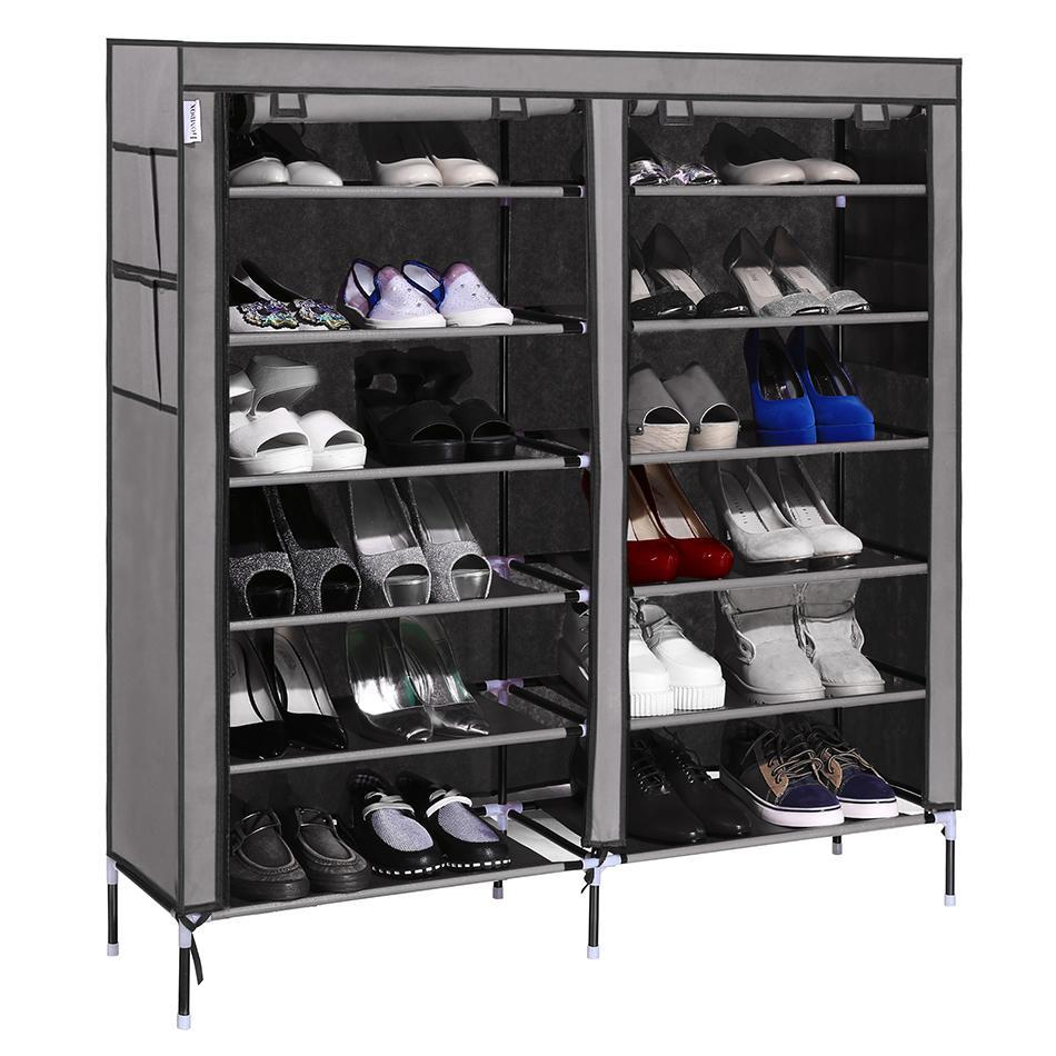 shoe cabinet rack homdox stand storage wardrobe organizer w shelves 6 layer. Black Bedroom Furniture Sets. Home Design Ideas