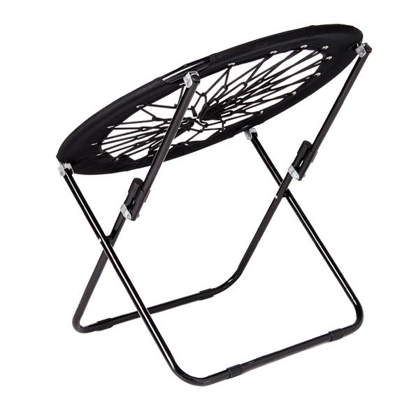 Bungee Chair Bunjo Patio Foldable Furniture Camping Hiking Lounge Seating Black