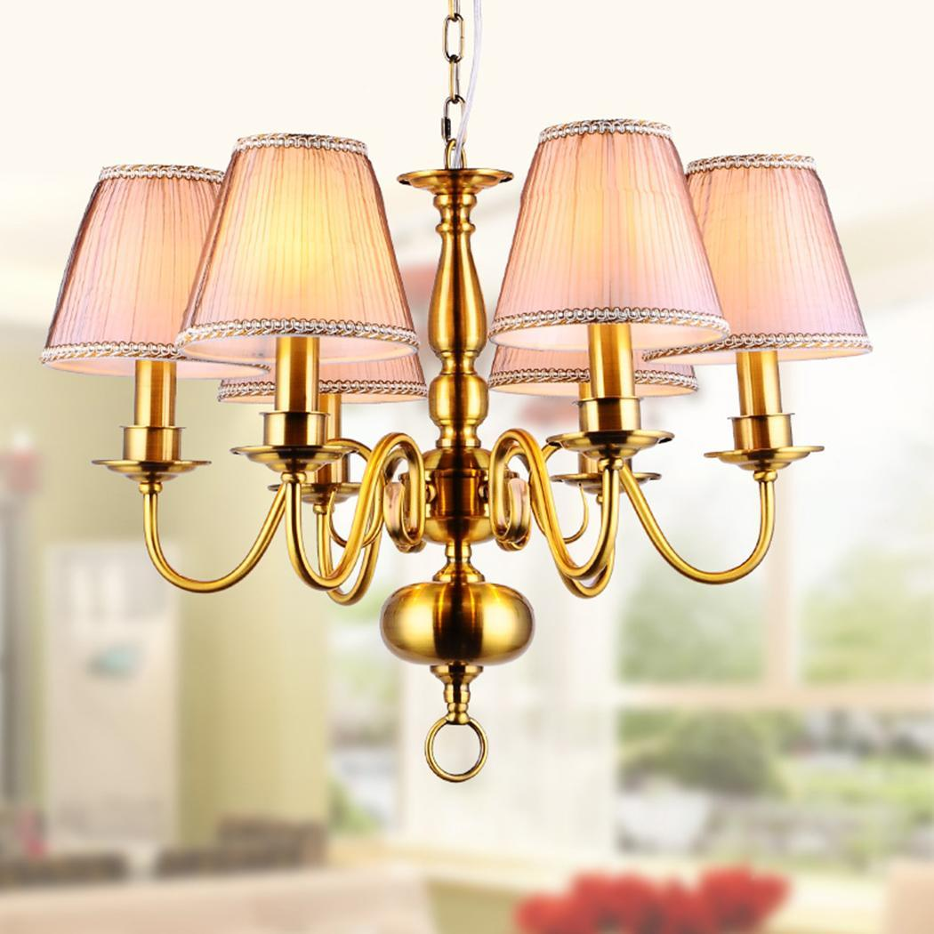 Modern Chandelier Chain: Modern 6Light E14 Pendant Lamp Hanging Fixture Ceiling