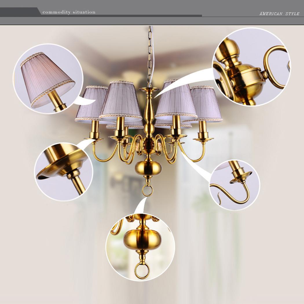 Modern 6Light E14 Pendant Lamp Hanging Fixture Ceiling