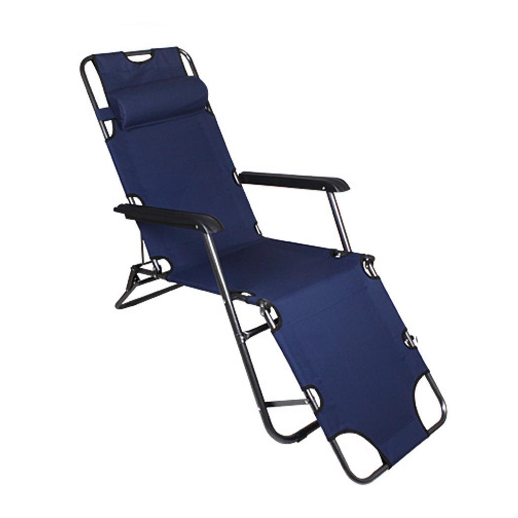 Outdoor Camping Lounge Chair Zero Gravity Folding Recliner Patio Pool Lounger