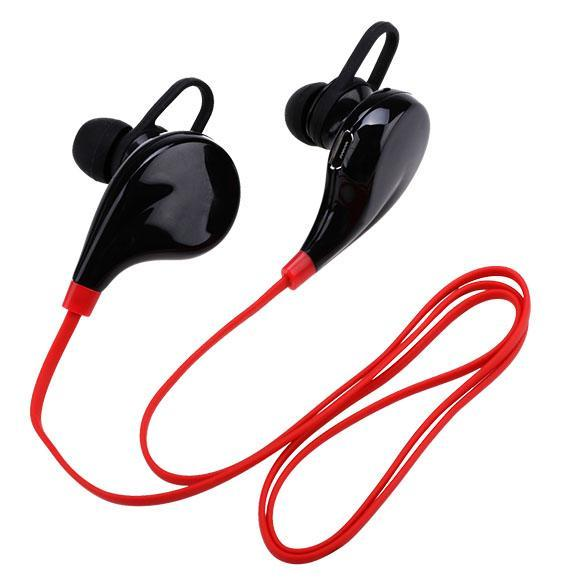 wireless bluetooth 4 1 headphones stereo earphones with microphone red export intl lazada. Black Bedroom Furniture Sets. Home Design Ideas