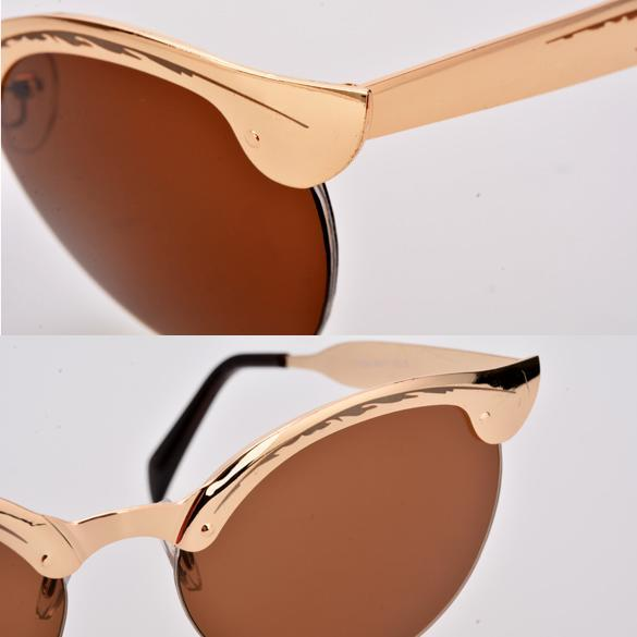 Rimless Glasses Singapore : Cyber Retro Unisex Mens Semi-Rimless Sunglasses (Blue ...