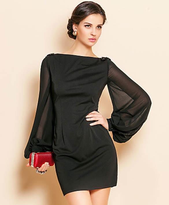 Фото платье с рукавами фонариками