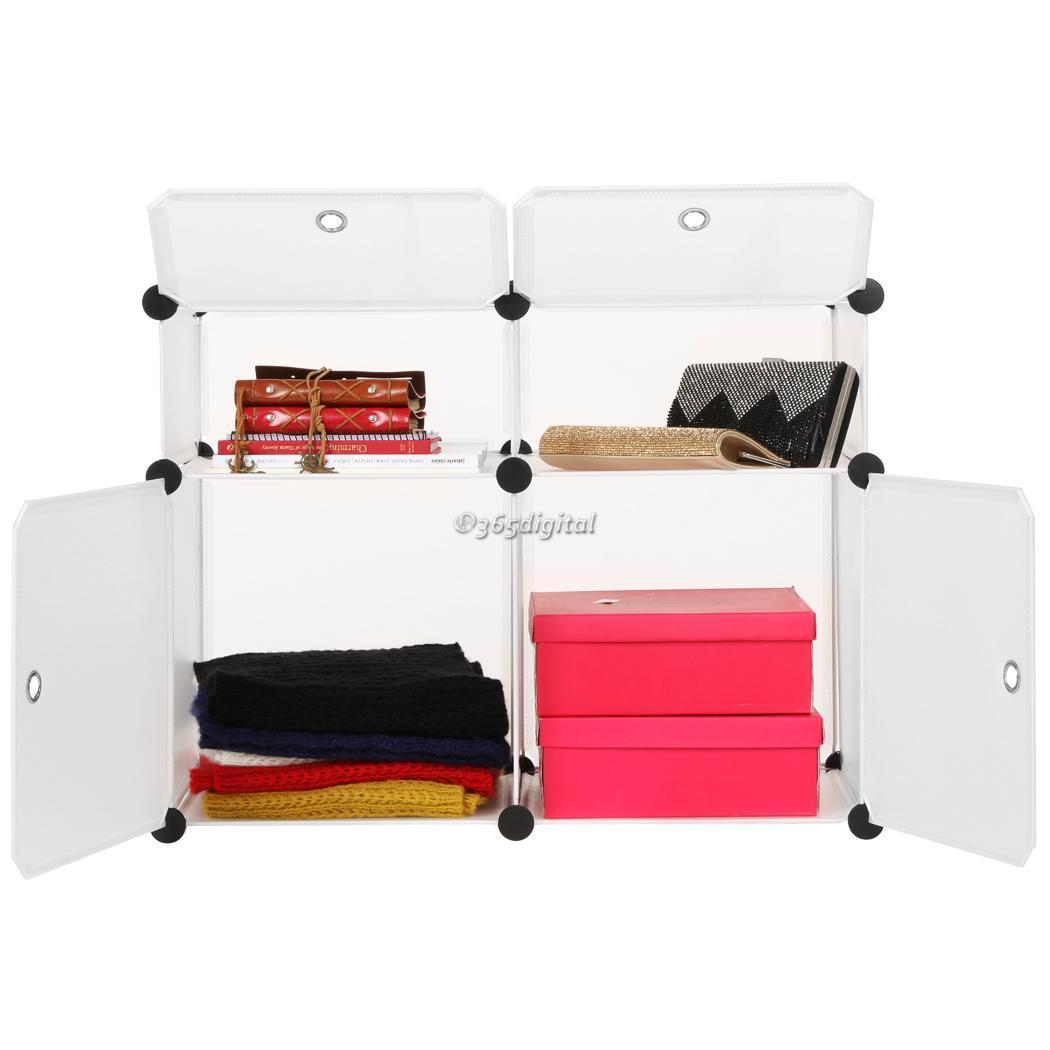 Plastic Portable Storage Cabinet Short : Transparent portable plastic bookcase storage cabinet