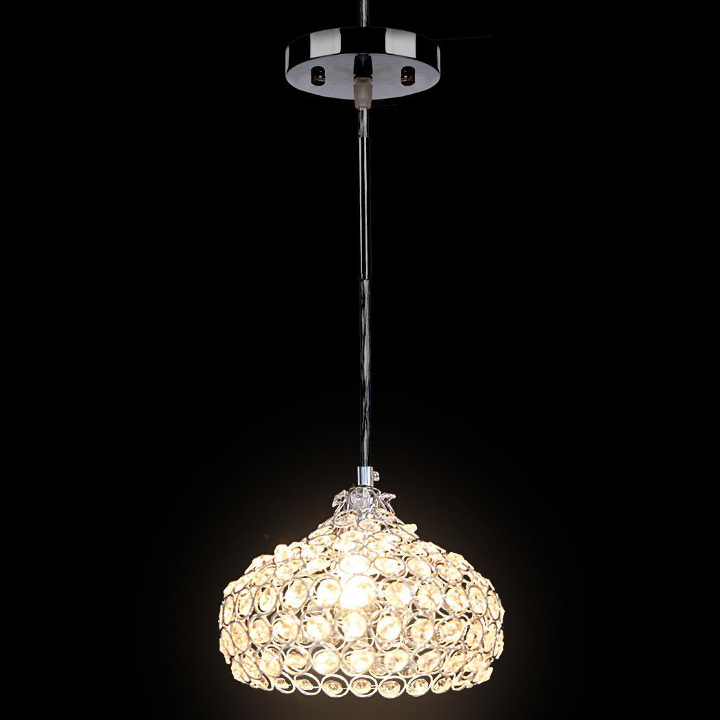 Mini Crystal Single Wine Glasses Chandelier Ceiling Lights