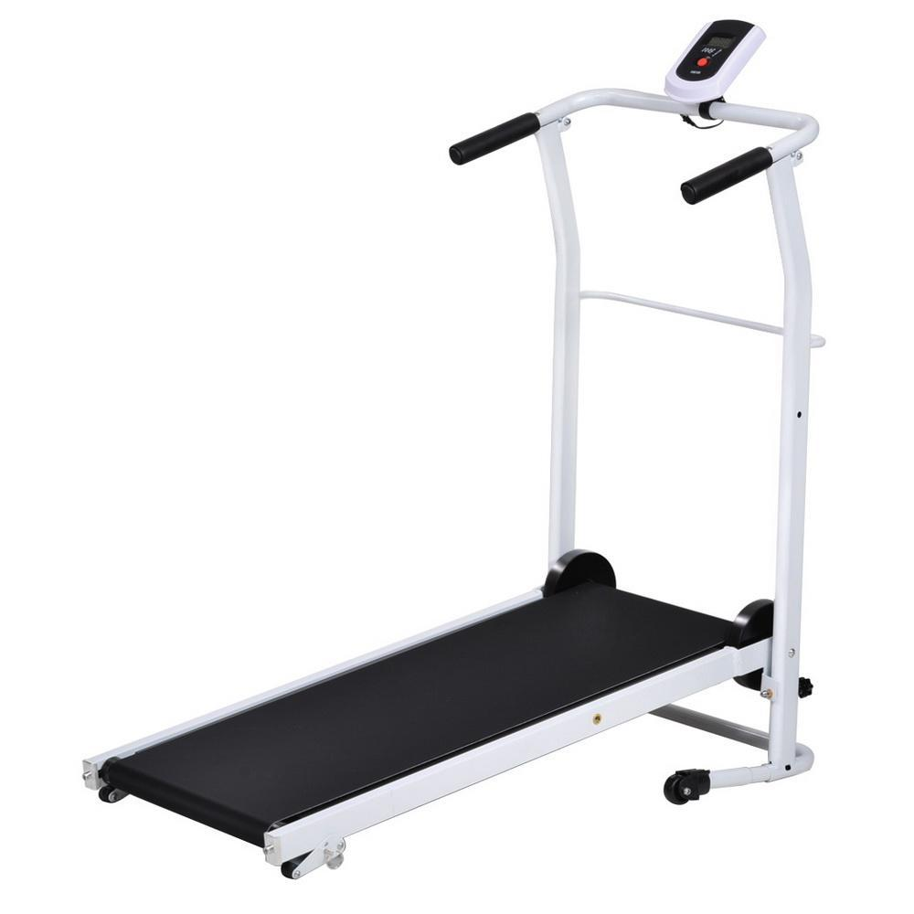 Non electric folding incline manual treadmill portable for Best choice products black 500w portable folding electric motorized treadmill