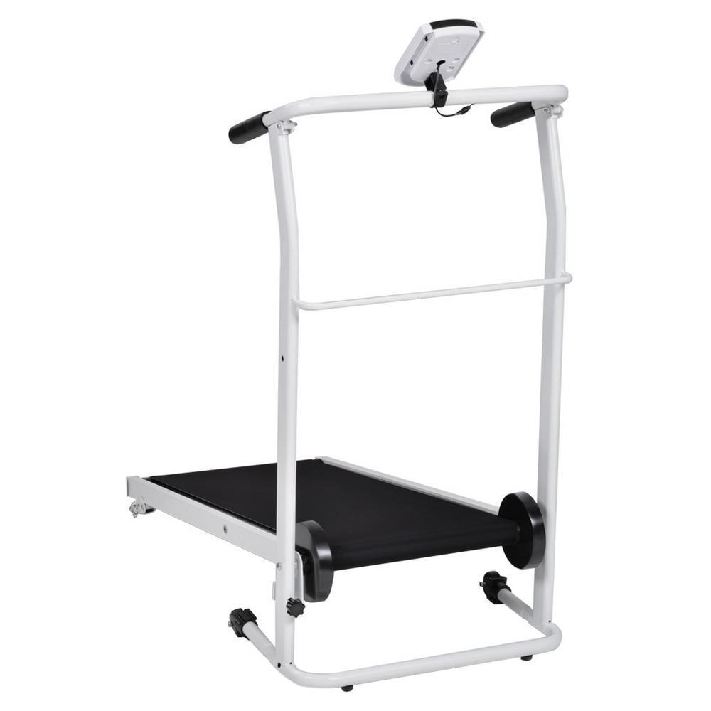 Non electric folding incline manual treadmill portable for Best non motorized treadmill