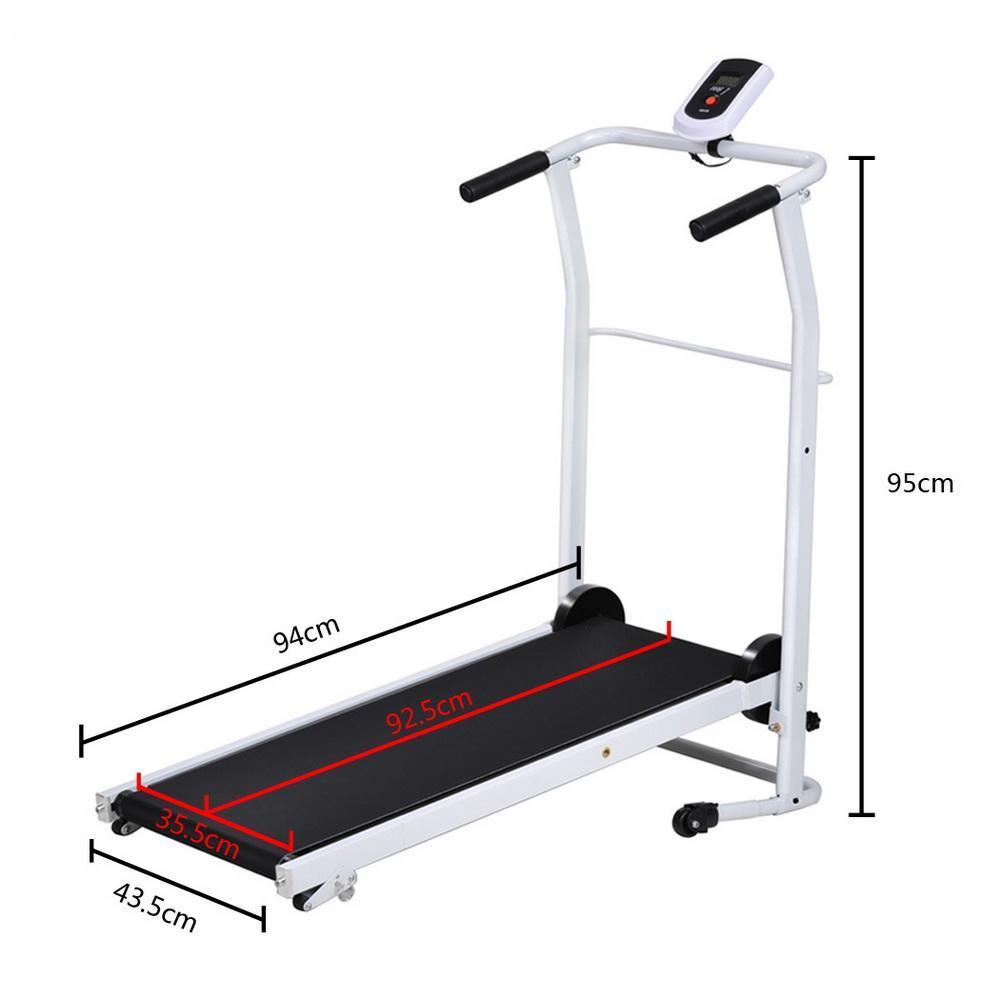 Non Electric Folding Incline Manual Treadmill Portable