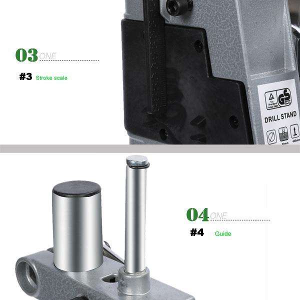 Bench Clamp Drill Press Stand > Work Station Drilling Collet 42mm Adjust Tall