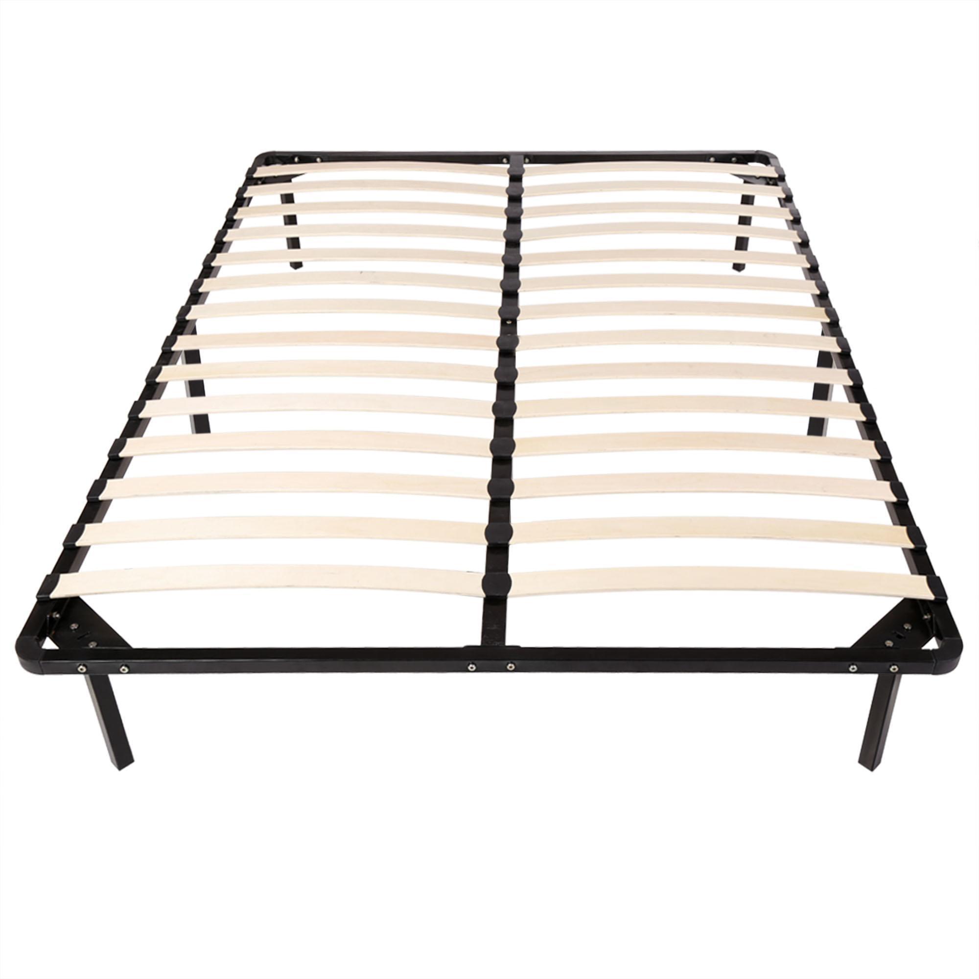 Forme De Lit à Coucher En Bois : Meuble de chambre lit grand bois lattes plate forme