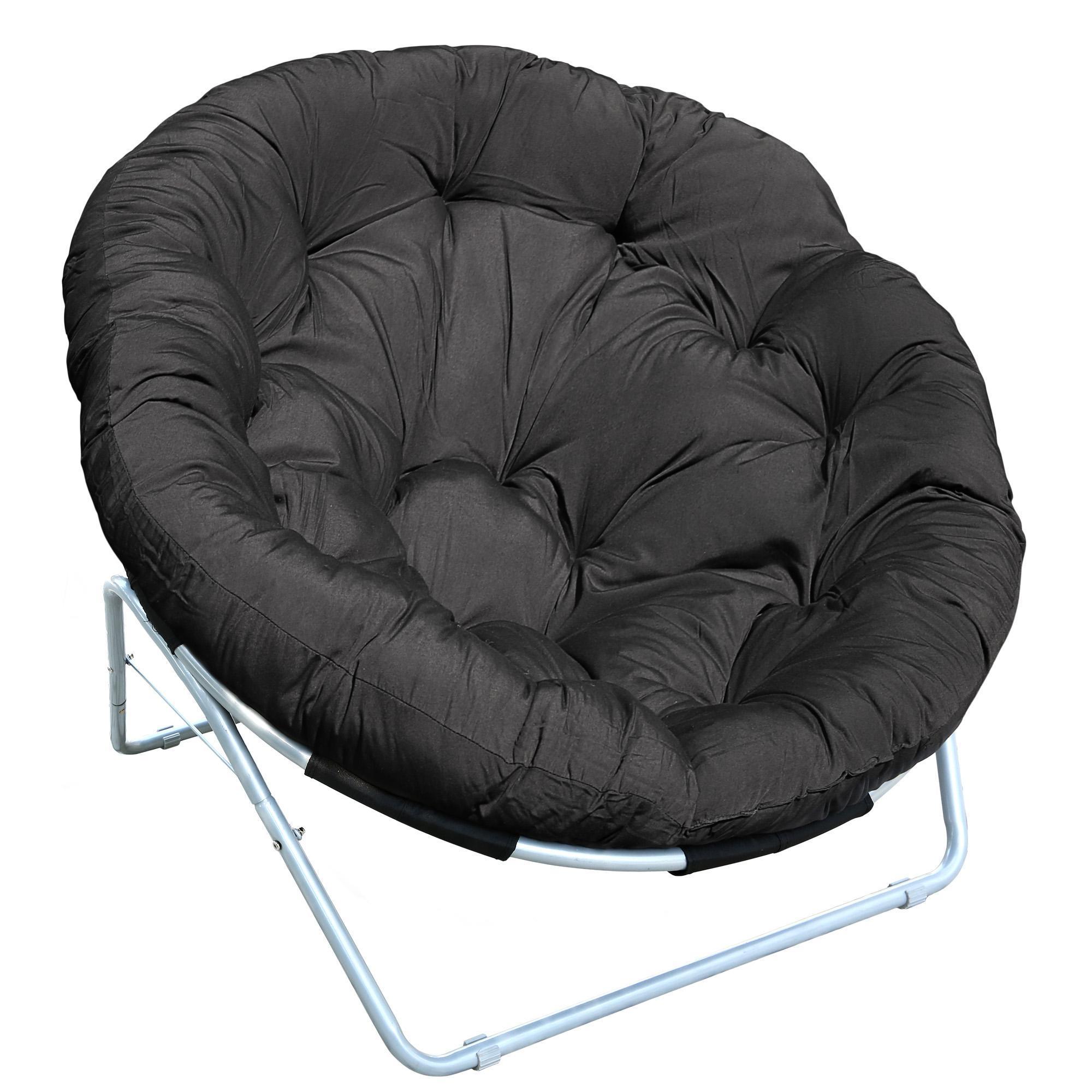 Coussin de chaise coussin rembourr en forme de lune cour ext rieure ronde ch - Coussin pour loveuse ...