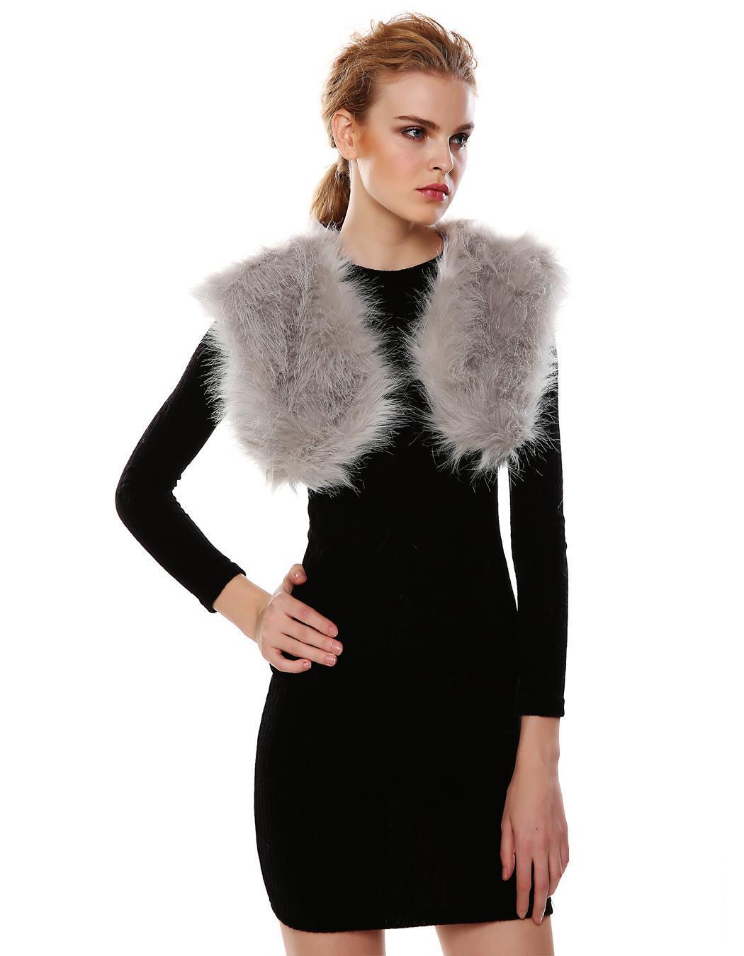 Gilet femme fausse fourrure achat vente gilet cardigan 2009834328647 cdiscount - Gilet fausse fourrure femme ...