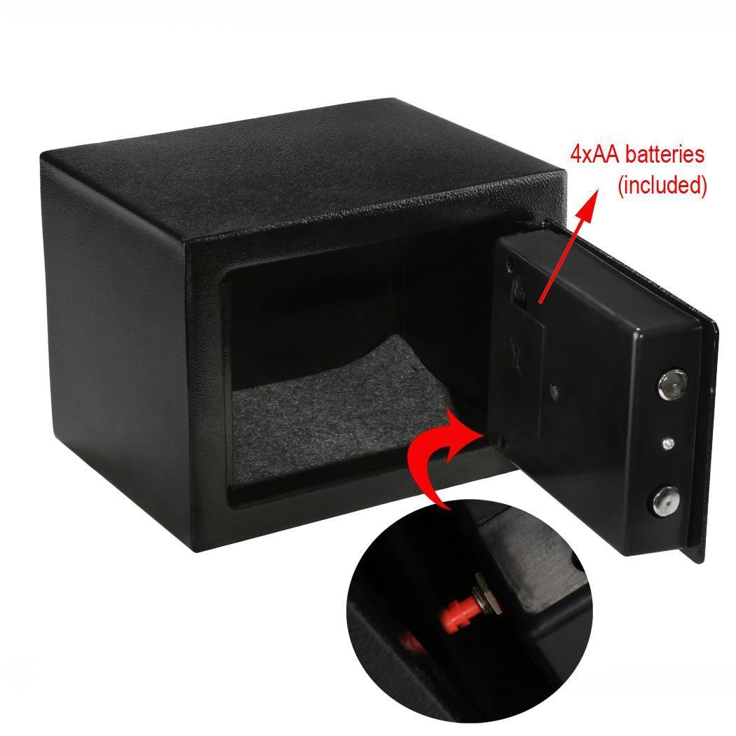 coffre fort de s curit mini coffre fort lectronique num rique verrouillage du clavier pour le. Black Bedroom Furniture Sets. Home Design Ideas