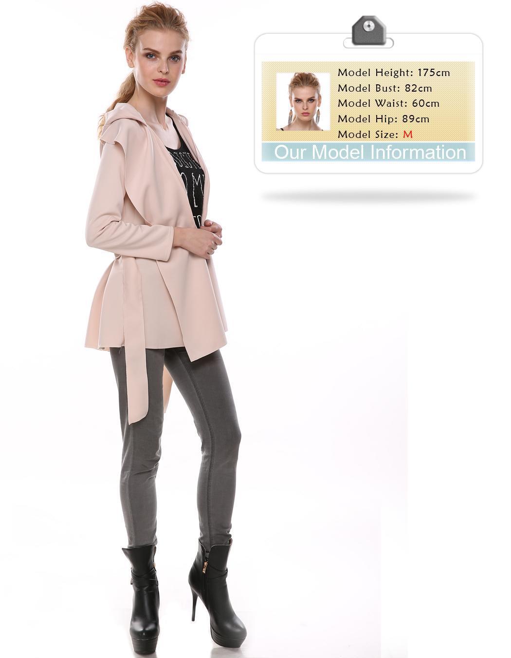 trench femme capuche avec ceinture l gante gris achat vente imperm able trench. Black Bedroom Furniture Sets. Home Design Ideas