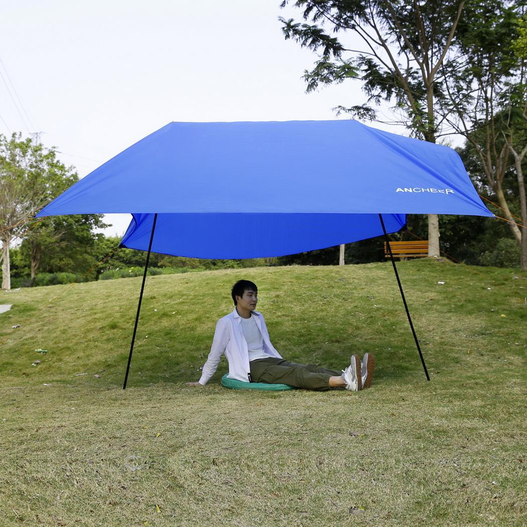 Portable Shelters Canopies : Beach tent with sand anchor portable canopy sun shelter