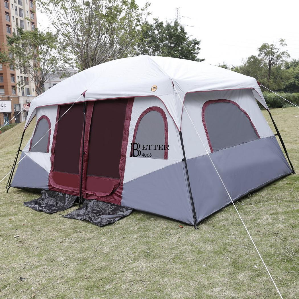 8-10 Person 2 Room Cabin Tent Family Large Camping Hiking
