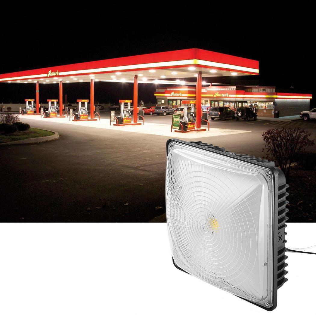 Slim Led Garage Lights: 50W UL Listed & DLC Quialified 5000K LED Bay Light Slim