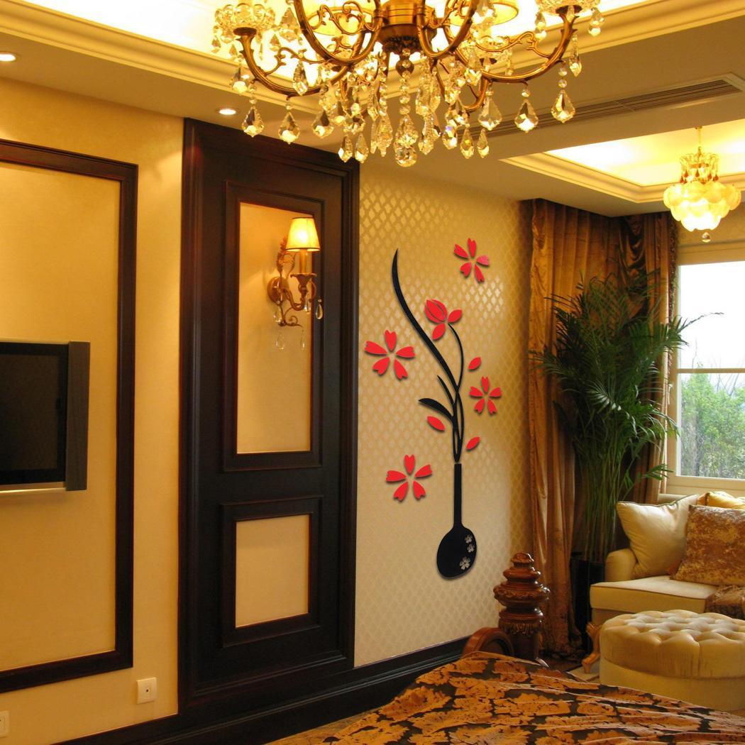 Decoration De Mur 3d Diy Prune Et Vase Autocollant De Mur