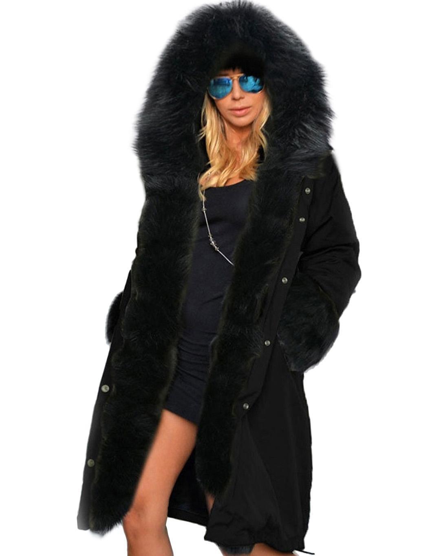 c7dfe3d74fab Casual Women Ladies Outerwear Coat Hooded Long Sleeve Solid Fleece Slim