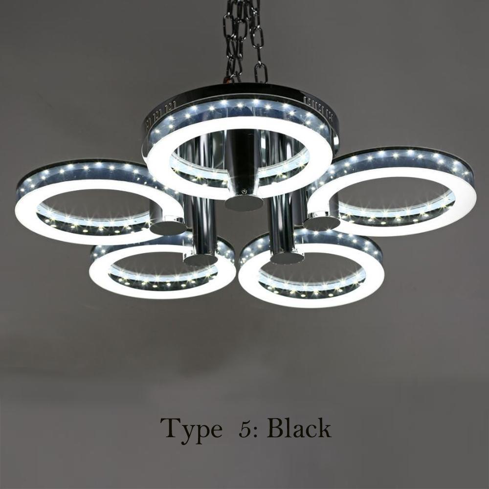 New round acrylic chandelier ceiling light 29 5 led pendant lamp european modern style led acrylic chandeliers ceiling light lamp with 5 lights arubaitofo Choice Image