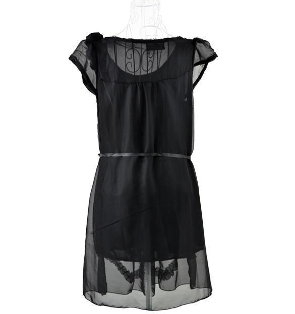 B20E Women Maternity Clothing Summer Plus Size One Piece Chiffon Maternity Dress