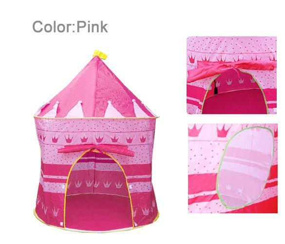 Kids Baby Children Toys Portable Princess Tent House Hut Play Games 2Colors ESY1