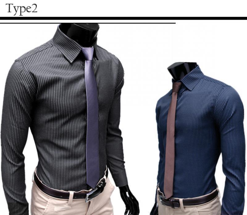 B20E New Mens Luxury Fashion Formal Casual Slim Fit Dress Shirts T Shirt Blouse