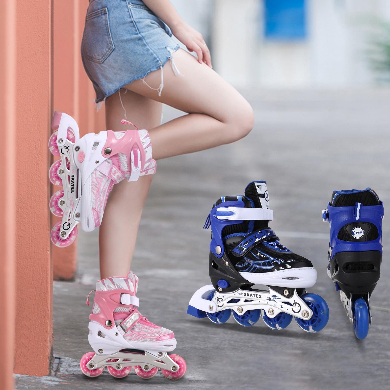 4f855733cdb Details about Kids In/Outdoor Inline Skates Adjustable Rollerblades Roller  Sporting Tracer US