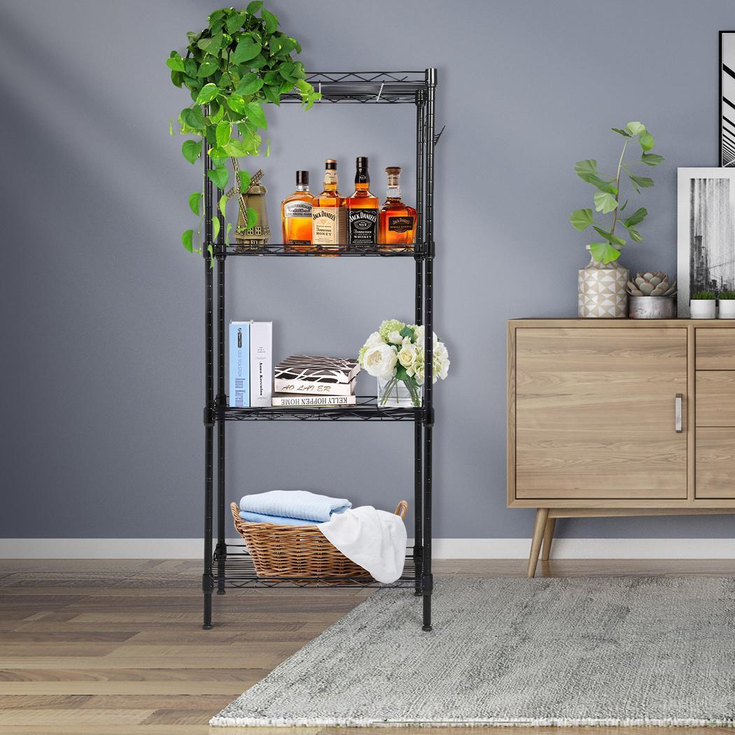 schwerlastregal steckregal metallregal b ro k che garage regal mit 4 regalb den ebay. Black Bedroom Furniture Sets. Home Design Ideas