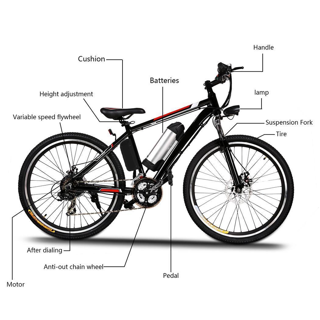 elektro fahrrad mountainbike 36v alu e bike akku fahrrad. Black Bedroom Furniture Sets. Home Design Ideas