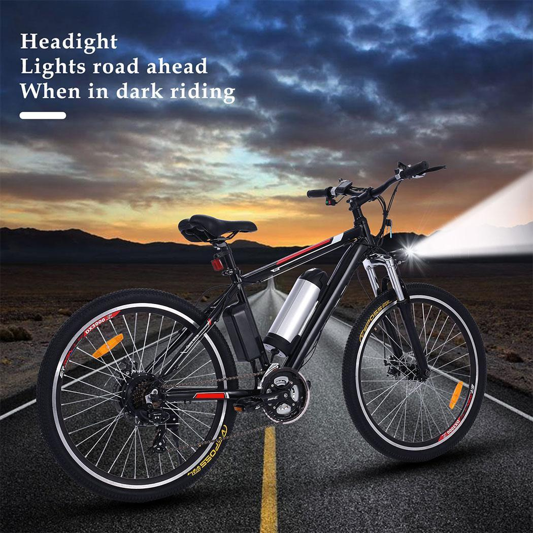 26 mountainbike elektro fahrrad alu e bike 21 gang led. Black Bedroom Furniture Sets. Home Design Ideas