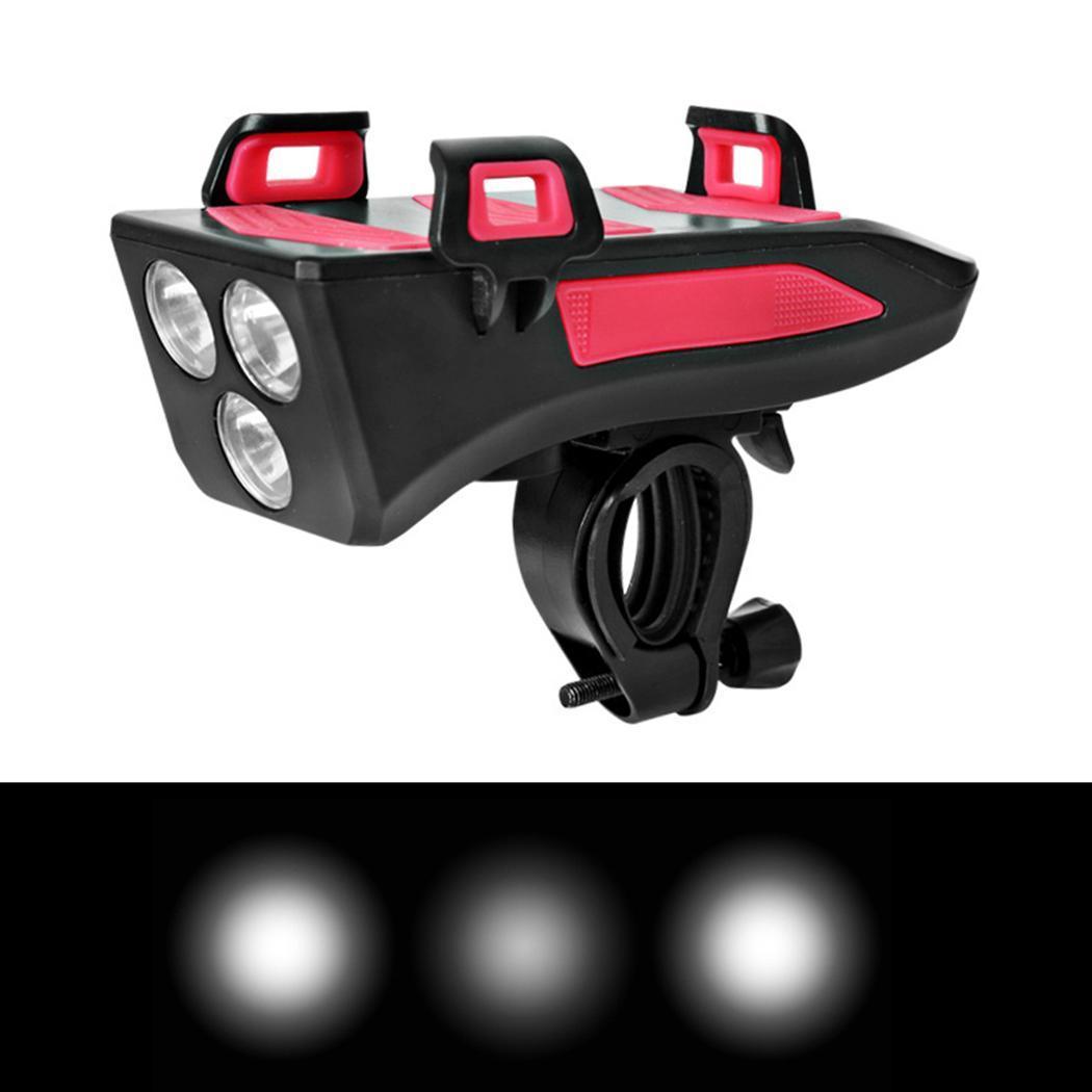 4in1 LED Fahrradbeleuchtung Fahrradlampe Halterung USB Scheinwerfer a z c 02