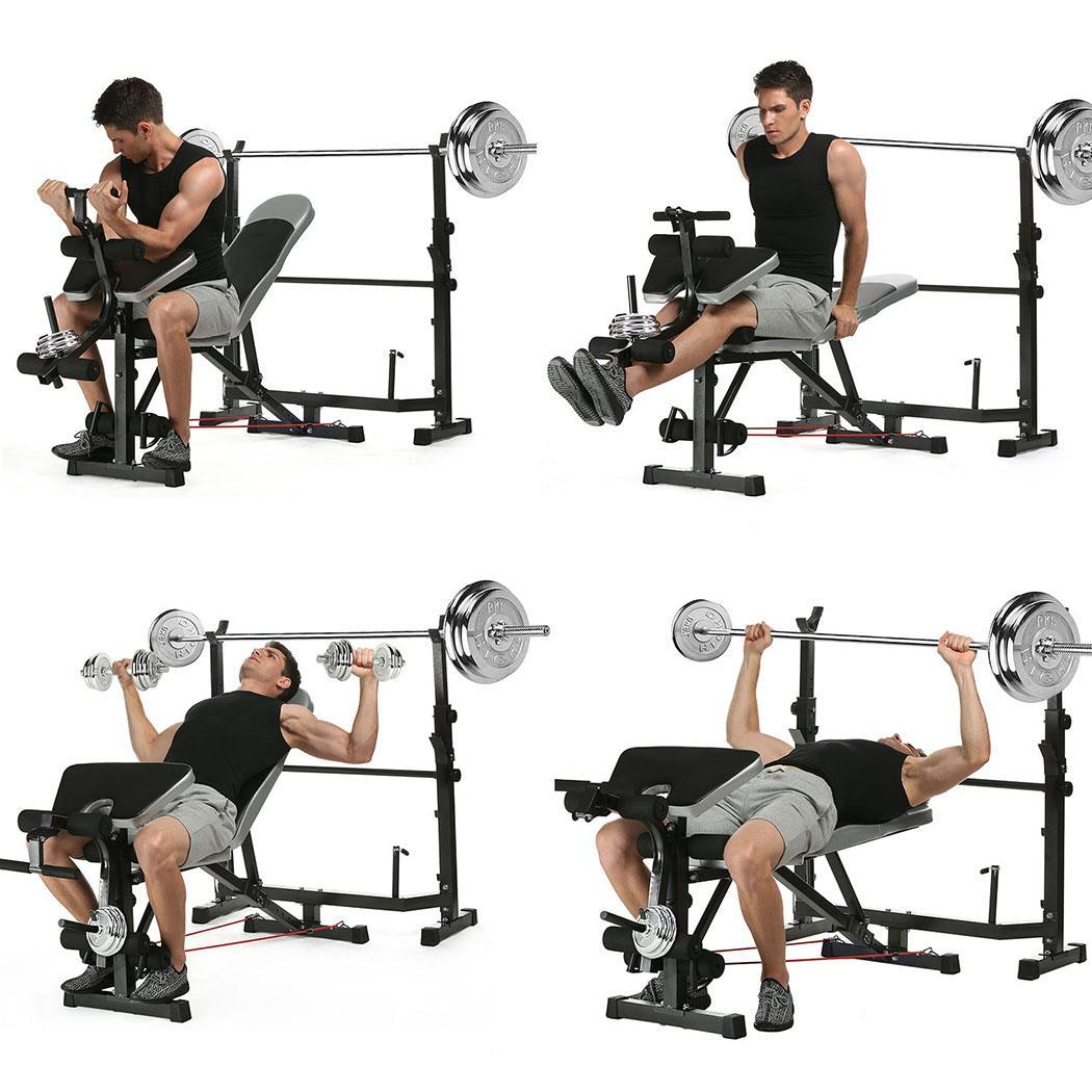 FITNESS WEIGHT BENCH Adjustable Strength Training Gym Workout Lifting Exercise