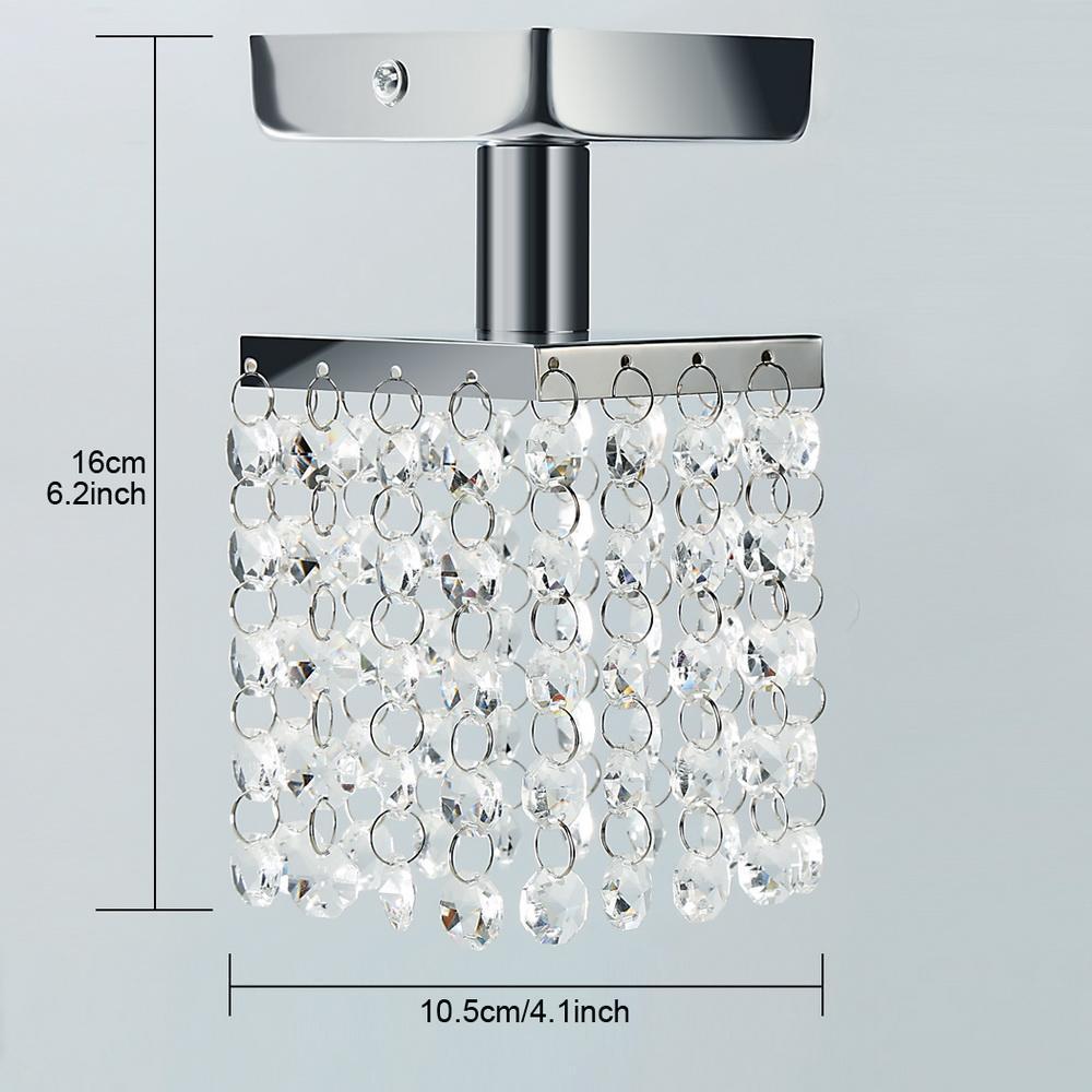 TOPS Modern Home Living Room Lamp Stainless Steel Pendant Chandelier Ceiling Light Flush Mount