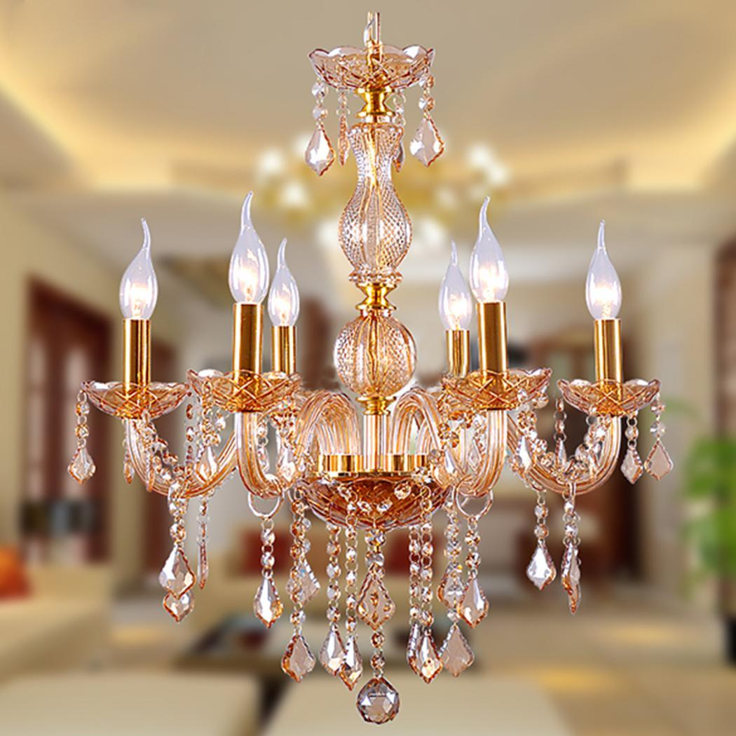 Modern Crystal Flush Mount Ceiling Light Lamp Fixture